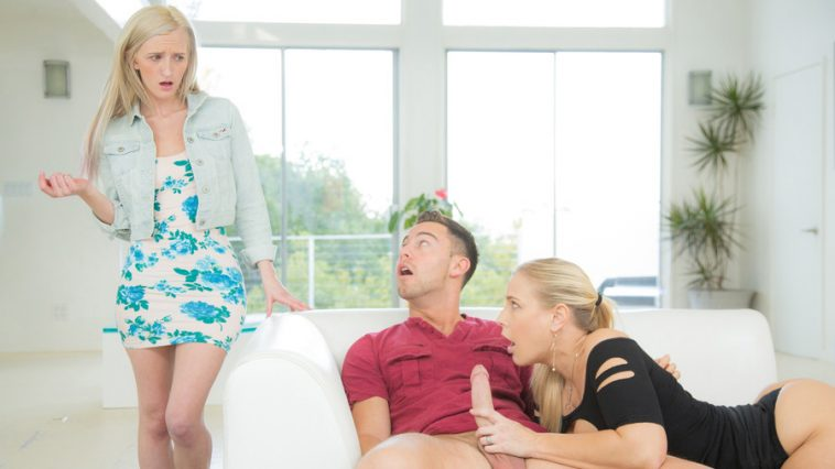 Moms Bang Teens Angel Allwood & Skylar Green in Naked Impression with Seth Gamble 7