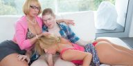 Moms Bang Teens Melanie Monroe & Katerina Kay in Play Date with Jake Jace 7