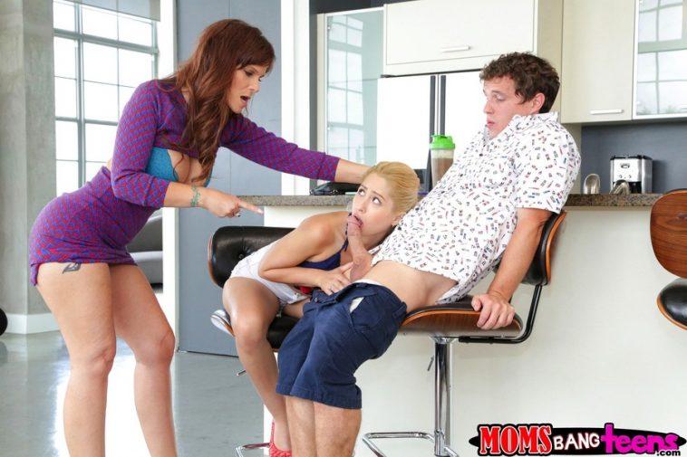 Moms Bang Teens Syren Demer & Goldie Oritz in Deep Trouble 5